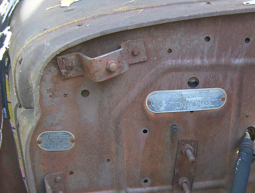 1946 Dodge Truck Vin Decoder
